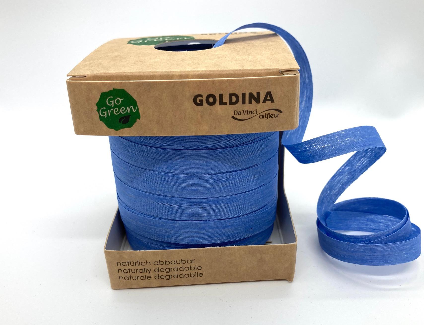 Ringelband Blau, 100 Meter, 100% Baumwolle