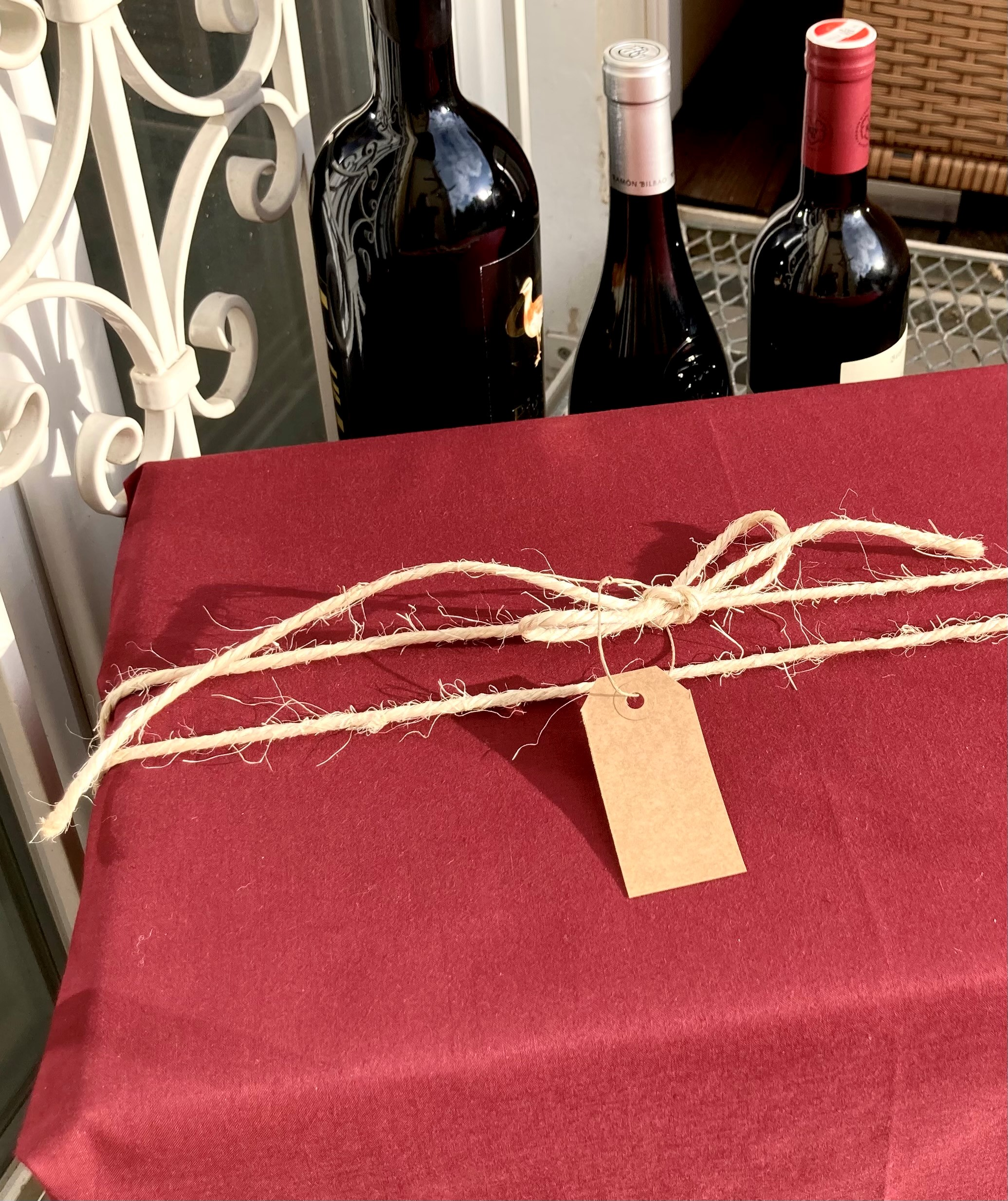 Einfach Her mit dem Bordeaux (100x80cm)
