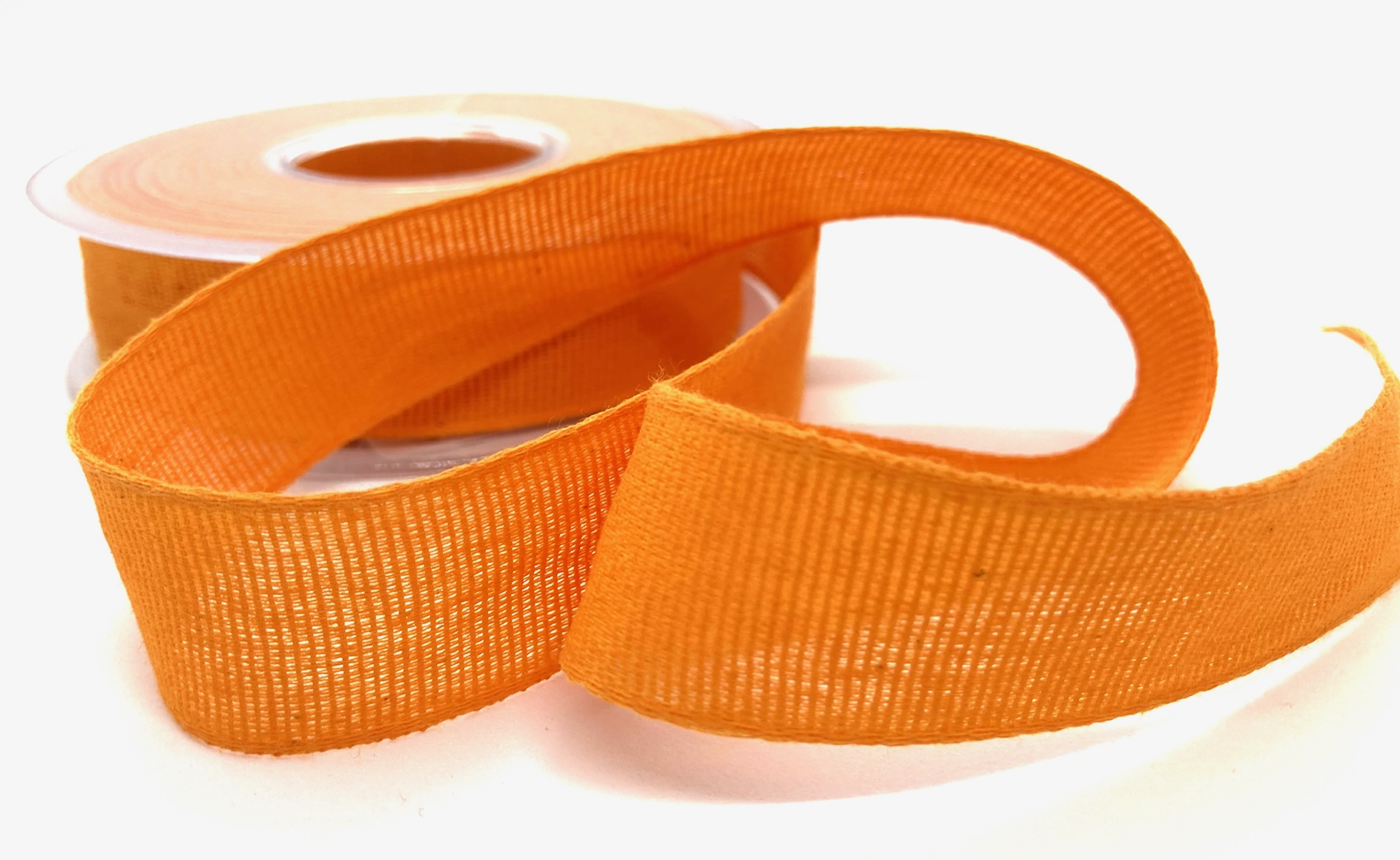 100% Baumwollband Orange, 20 Meter