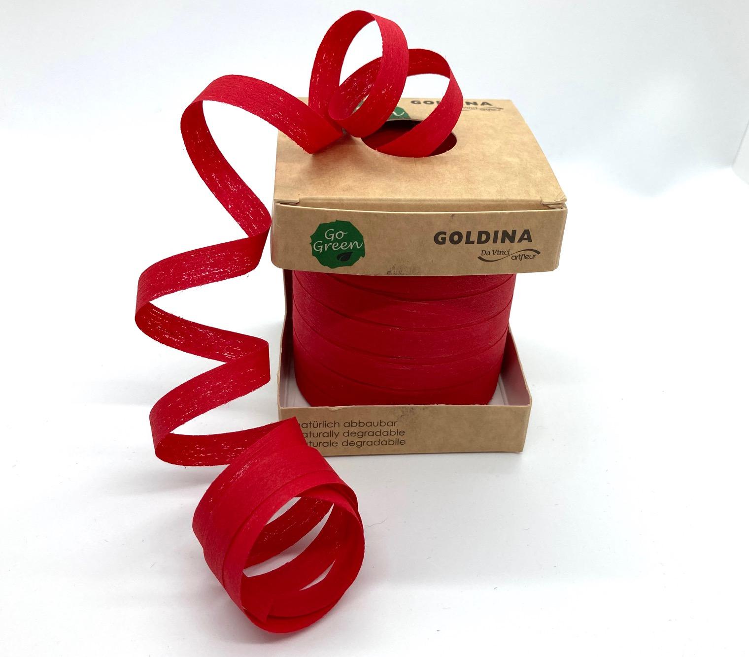 Ringelband Rot, 100 Meter, 100% Baumwolle