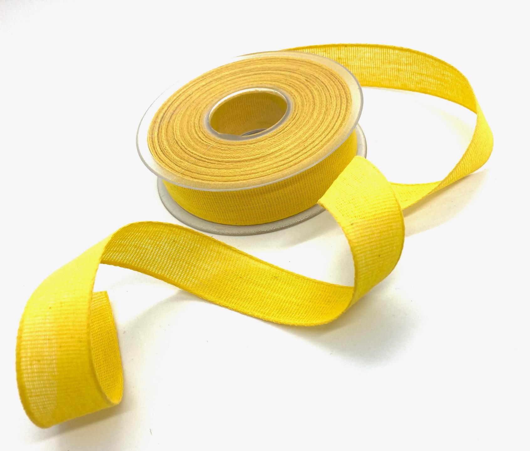100% Baumwollband Gelb, 20 Meter