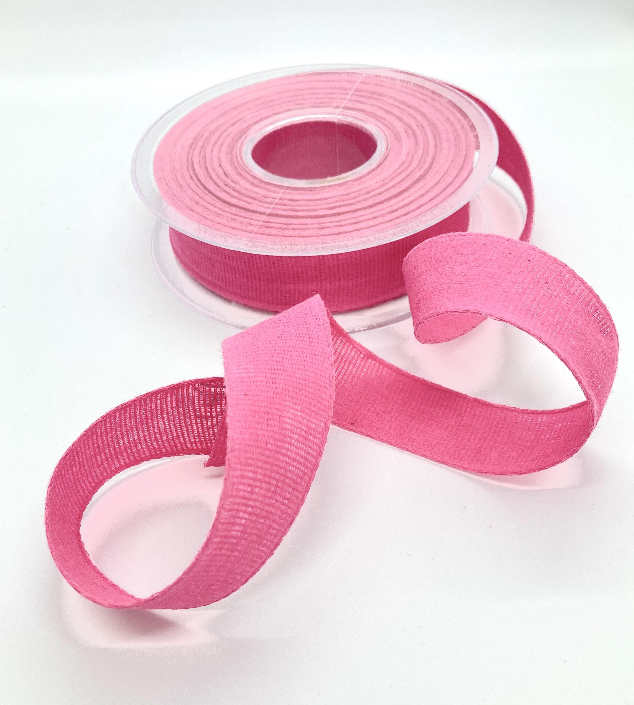 100% Baumwollband Pink, 20 Meter