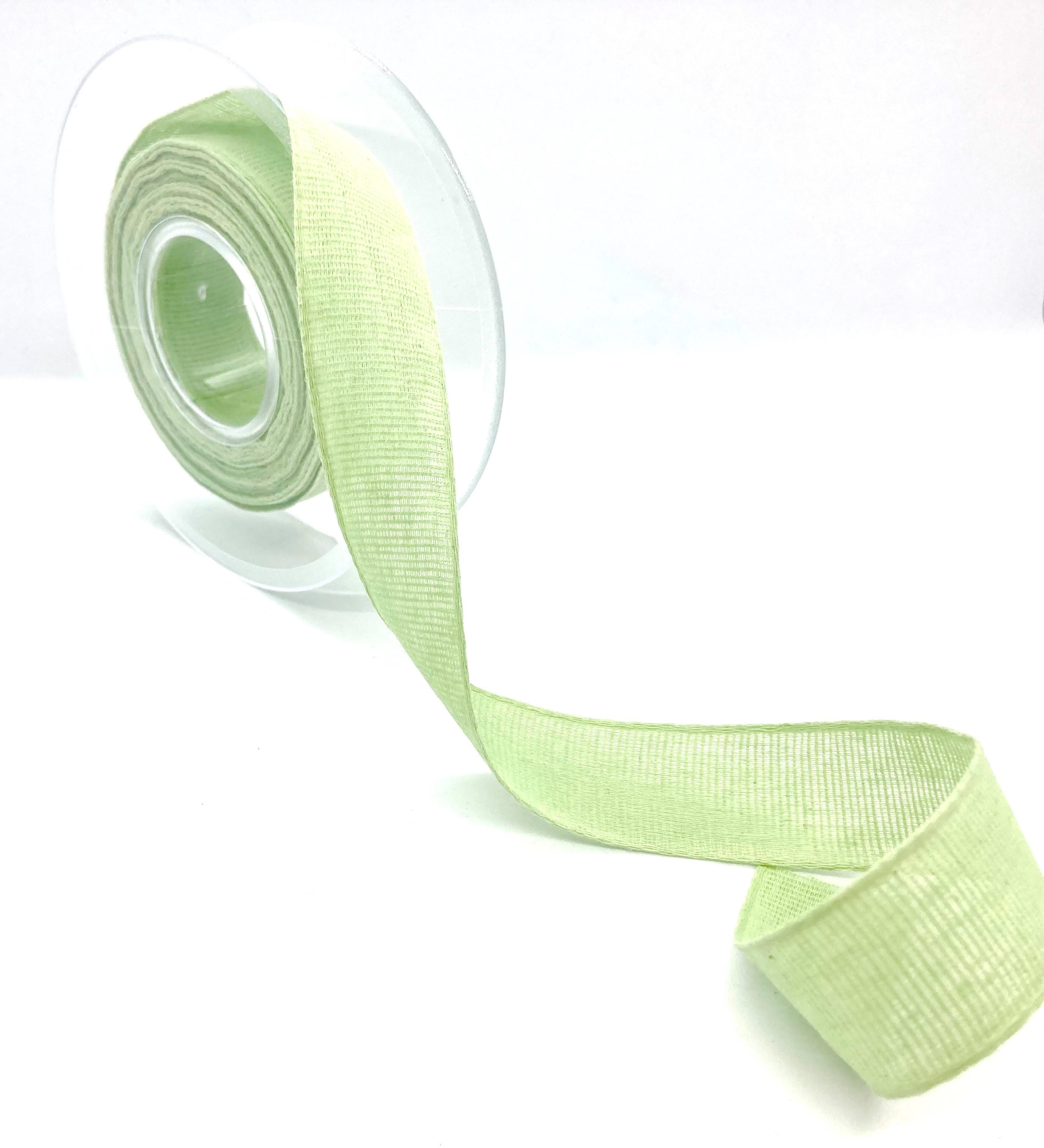 100%Baumwollband Lindgrün, 20 Meter