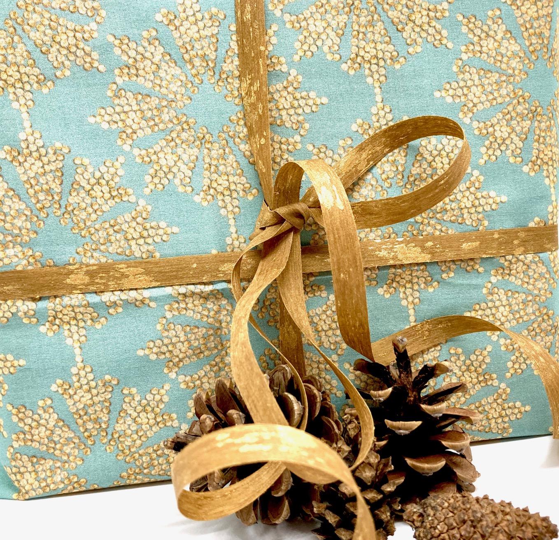 Advent: Weihnachten ganz BIO in Türkis (70x50cm)