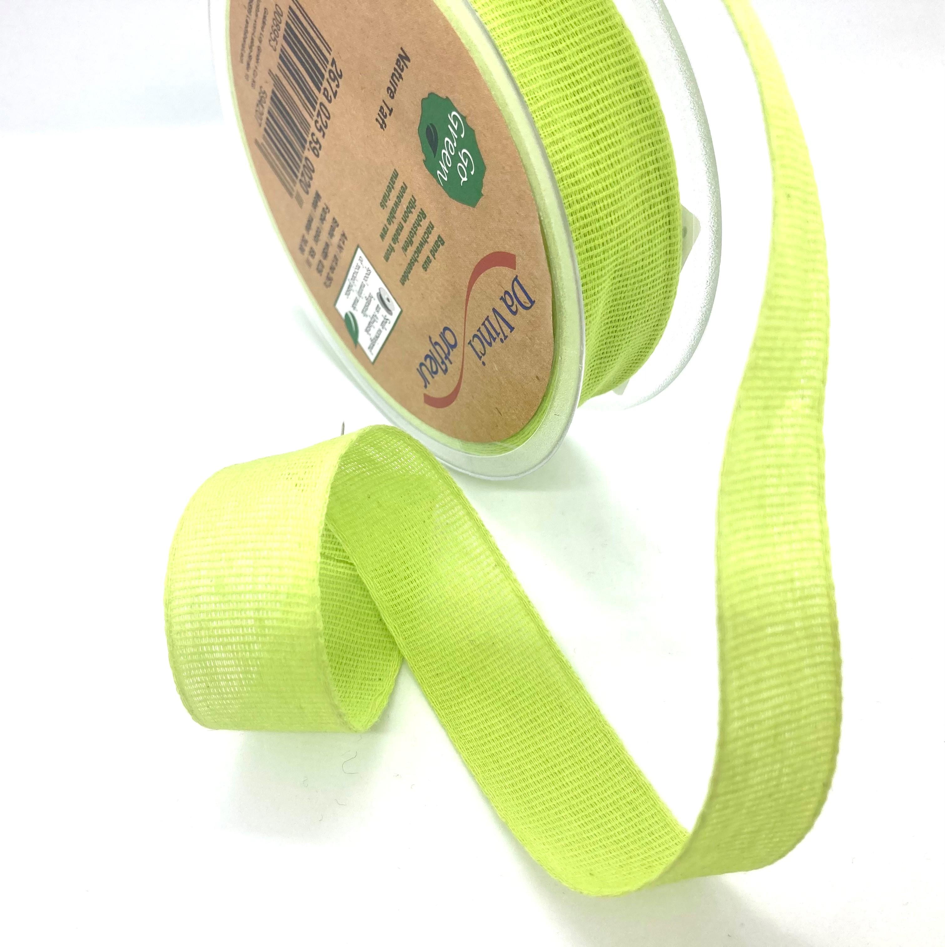 100% Baumwollband Frischgrün, 20 Meter