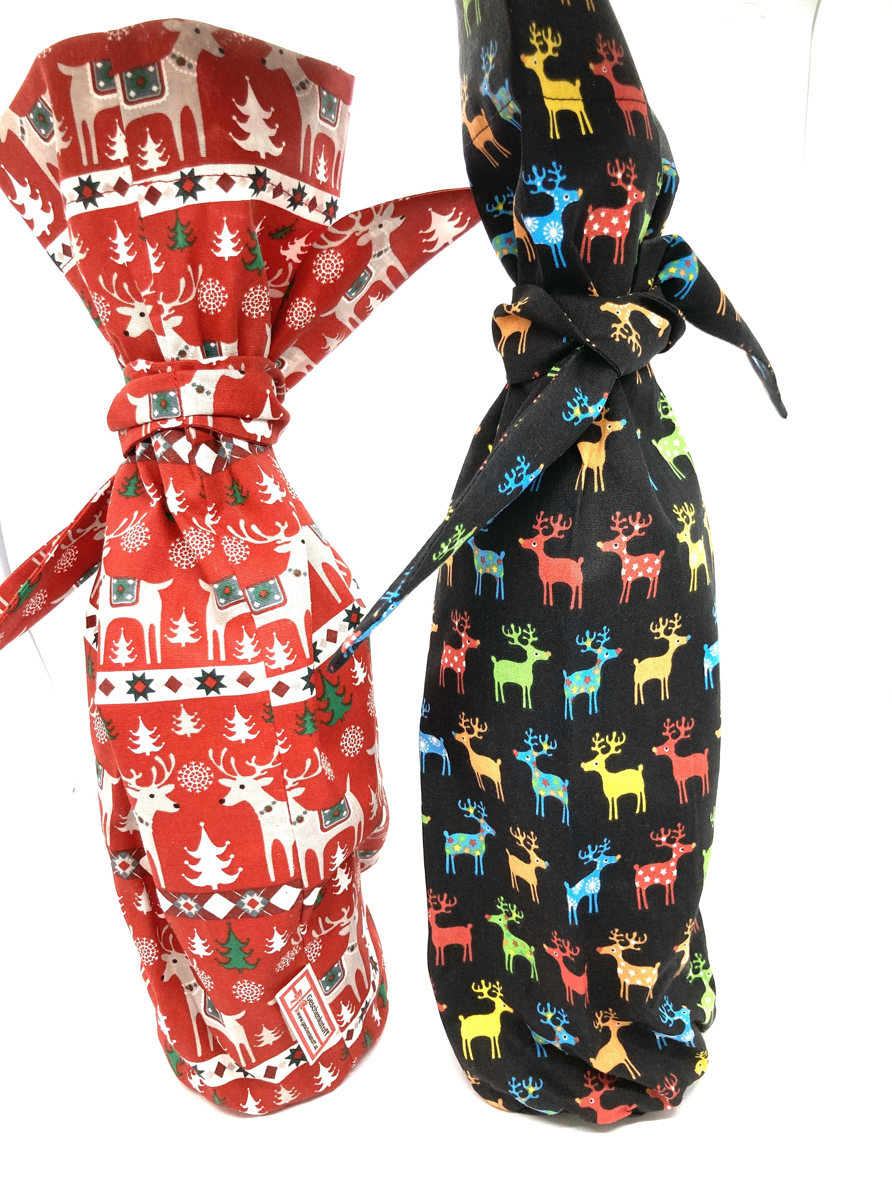 Advent mit Weihnachtshirschen - Flasche